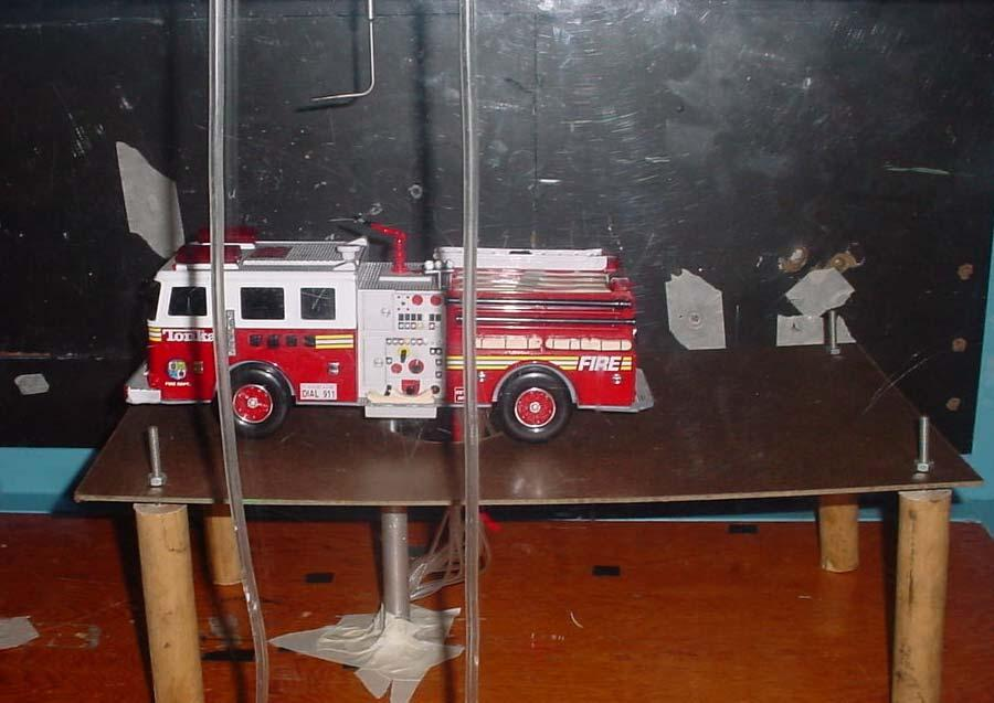 2 FIRE TRUCK 2.1 WIND TUNNEL EXPERIMENTATION 2.1.1 Experimental Setup Testing was conducted at Florida Tech s Low Speed Wind Tunnel facility with a test chamber section 54 cm x 54 cm.