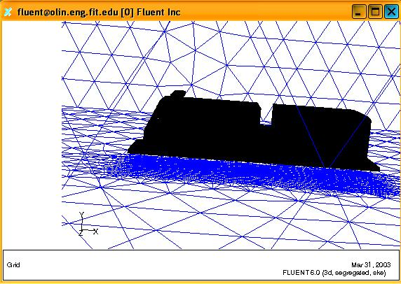 The solution-adaptive mesh refinement featured in Fluent allows refining or coarsening the grid based on the geometric and numerical solution data.