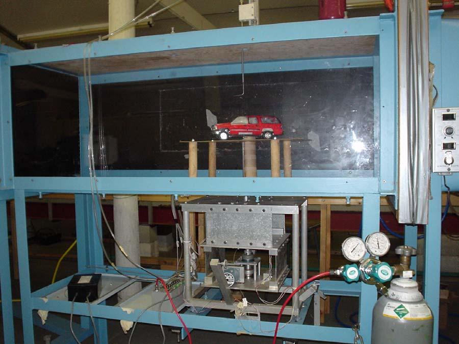 4 SPORTS UTILITY VEHICLE SECTION 4.1 WIND TUNNEL EXPERIMENTATION 4.1.1 Experimental Setup Testing was conducted at Florida Tech s Low Speed Wind Tunnel facility with a test chamber section 54 cm x 54cm.