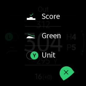 Green Button Distance of center pin
