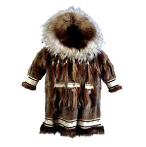 Clothing The two main materials for clothing were caribou skin and sealskin.