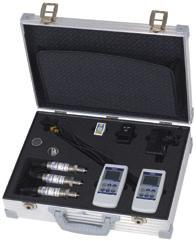Available measuring ranges see specifications Calibration case for pressure and/or temperature (equipment freely selectable), consisting of: and/or