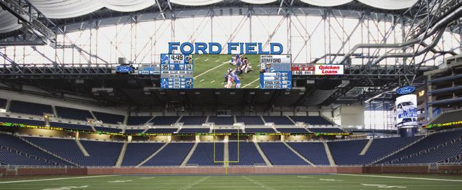 THE NEW FORD FIELD The Lions announced in February 7 that the Ford Family is investing approximately $ million into Ford Field for new video boards and several other renovations to be completed for