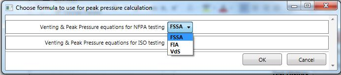 If you choose FIA or VdS, a warning dialog will open, but the choice will be respected after you click OK on the warning and OK on the original dialog.