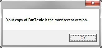 Note that using the File Check for Updates can declare that your FanTestic Integrity is up to date even when it is not in the following circumstances: your computer