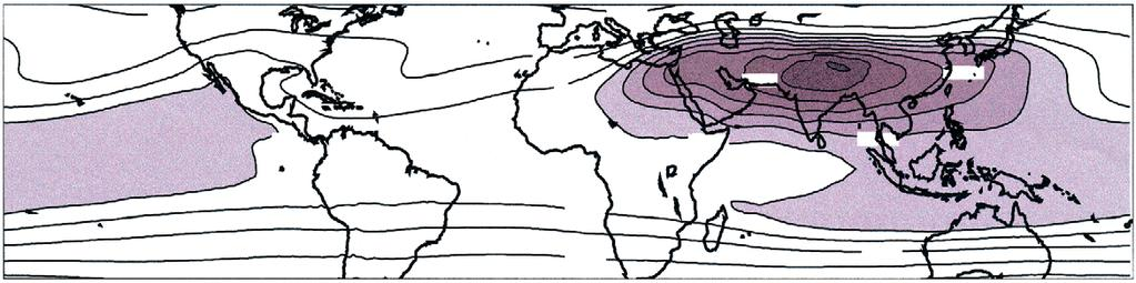 (Figure 1) maintains the low-pressure regions (Figure 4) which continue to drive the monsoon winds.