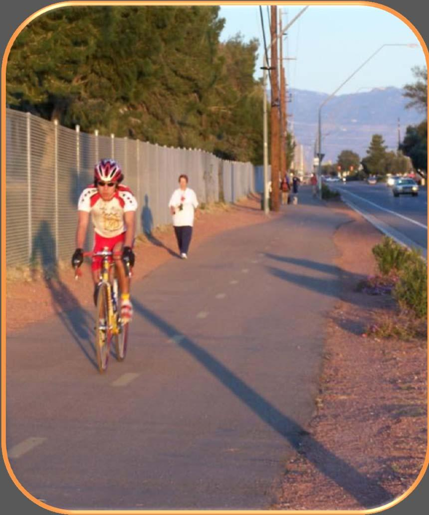 SIDEPATHS New term in guide Sidepath = shared-use path that runs along a roadway Supplements, does not substitute