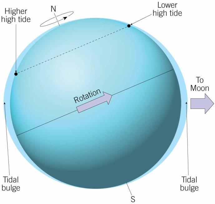 Tides Changes in elevation of ocean surface Caused by the gravitational