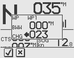 For Cross Track Error, the number of decimals shown depends on the output from the GPS/chart plotter. Three decimals give a more accurate track keeping.