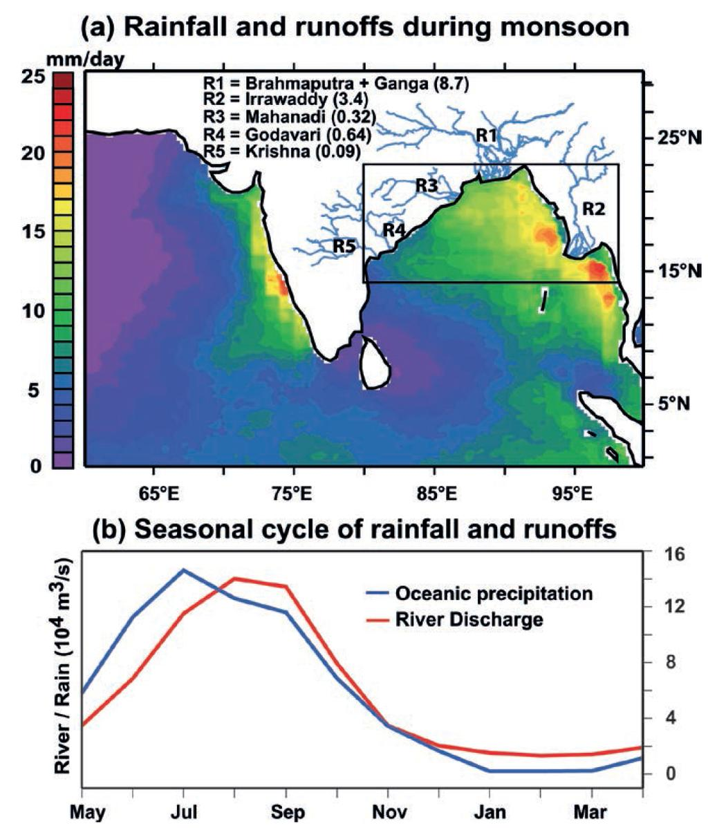 The Bay of Bengal: a dilution basin Bay of Bengal: relatively small, semi-enclosed basin that