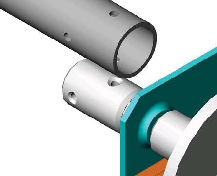roller shaft. Slide Z bracket onto the bar Cutting and fitting the power roller.