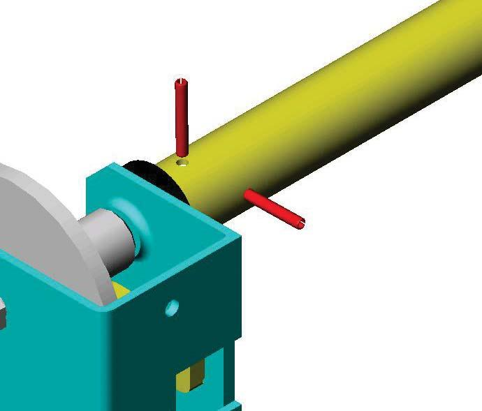 Remove burrs and clean the cut end of the power roller, slide the rubber rings onto the roller in any position.