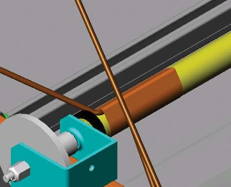 Lay 150mm of rope onto the roller. Tape the full length of the rope end on the roller.
