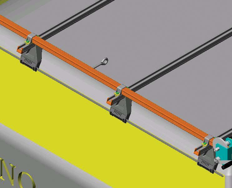 Position the rope guide peg between the front and middle crossbars.