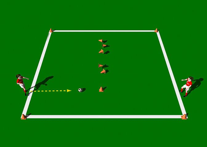 3, 2, 1 Blast Off This practice is designed to improve the technical ability of the Push Pass with an emphasis on accuracy.