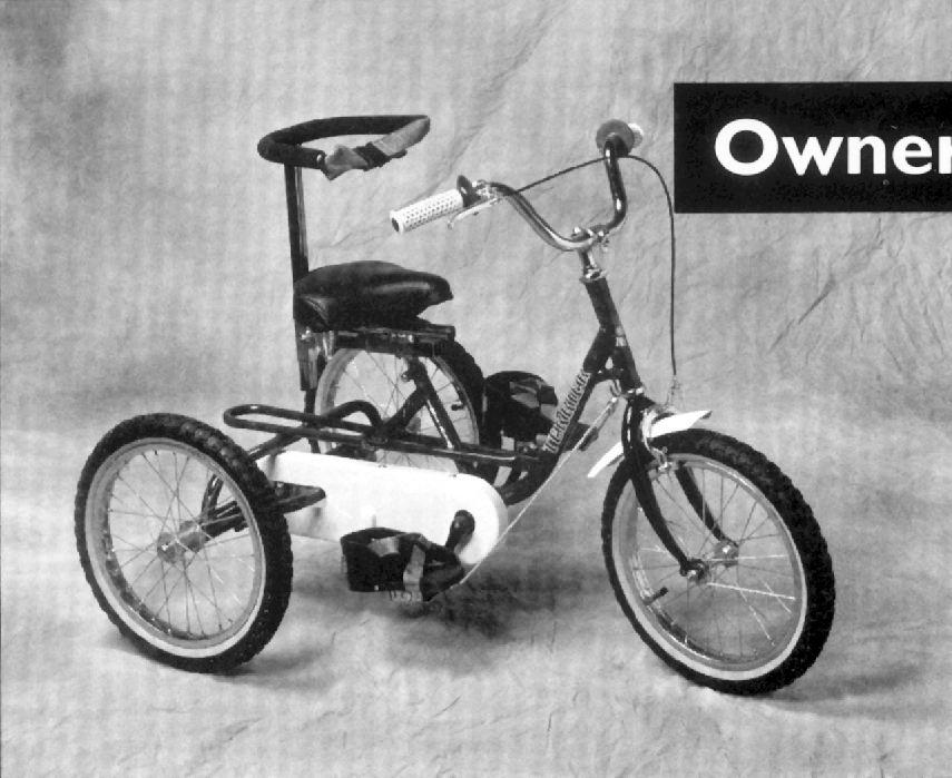 Owner s Manual TRICYCLES IMP - TERRIER - TMX - TRACKER Congratulations! You have made an excellent investment in your child's health and happiness.