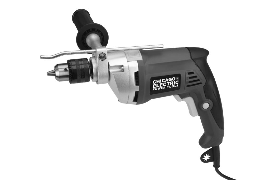 "Keep this manual and the receipt in a safe and dry place for future reference. ITEM 60495 1/2"" VARIABLE SPEED REVERSIBLE HAMMER DRILL REV 14f Visit our website at: http://www.harborfreight."