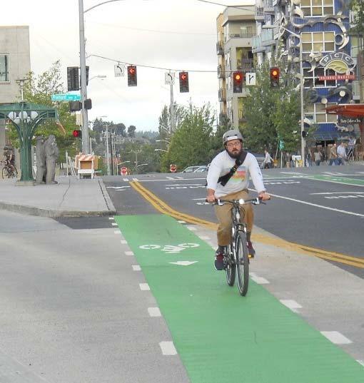 CONTRA-FLOW BIKE LANES Placed on the right side of road Provide a bicycle facility in the