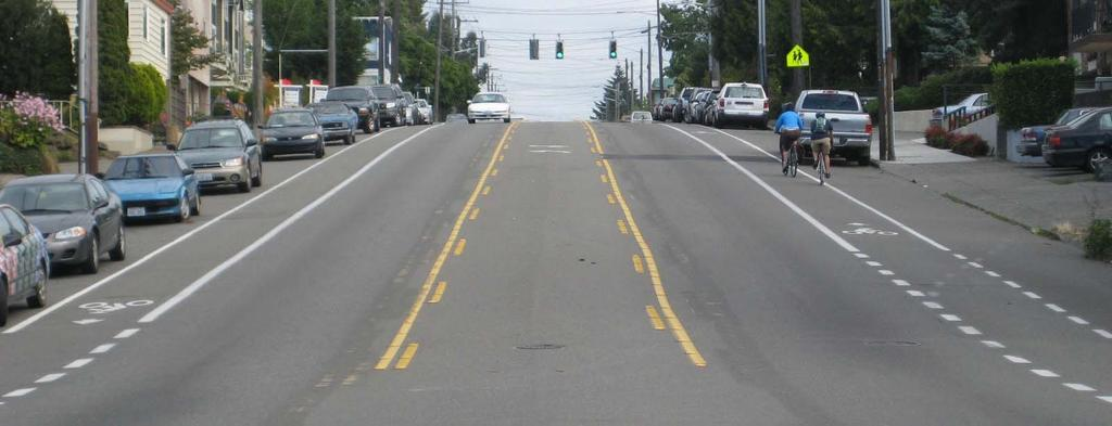 LANE DIETS Narrow arterial lanes up to 10 feet