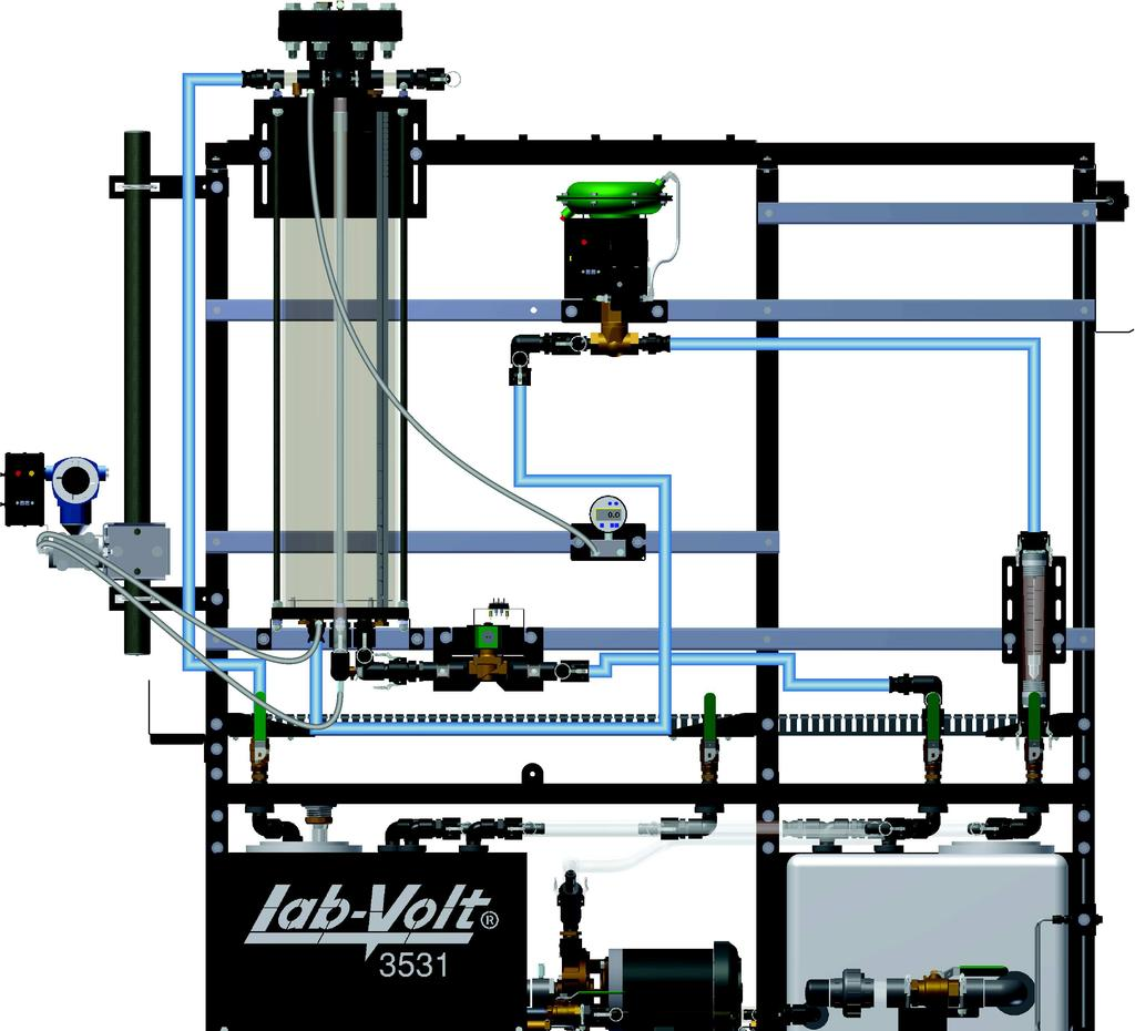 Ex. 5-3 Wet Reference Leg Procedure Figure 5-18. Setup. 2. Connect the control valve to the pneumatic unit. 3.