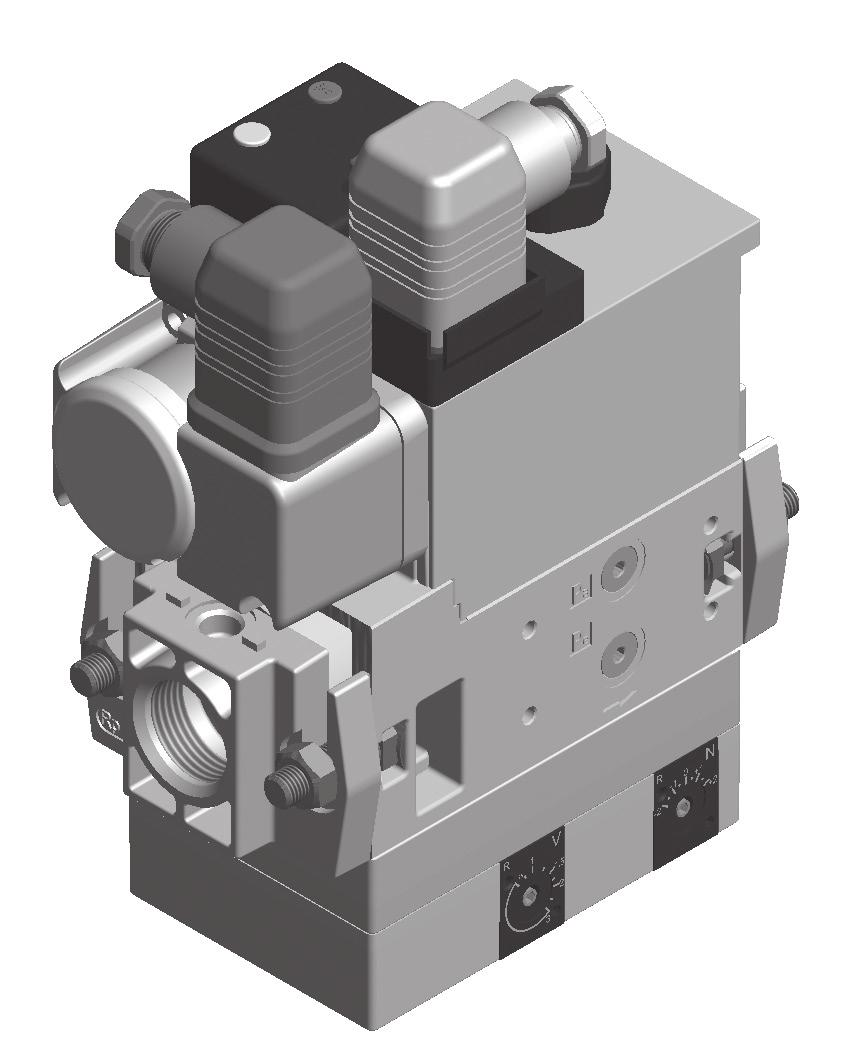GasMultiBloc Combined regulating and safety valve Infinitely variable air/gas ratio control mode MB-VEF 407-42 B0 7.