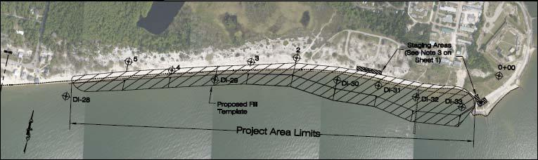 Design Beach Fill Estimated and permitted