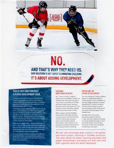 WELCOME TO CHECKING THE RIGHT WAY FOR YOUTH HOCKEY Introduction This Handout is intended for all who coach hockey.