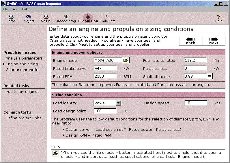 Engine data Propulsion analysis methods page As described above, the engine can affect propeller sizing decisions particularly when the design point for the sizing results in reduced pitch.