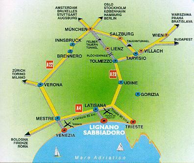 By Bus - Bus Stations There are many bus lines which regularly depart from the northern part of Italy towards Lignano.