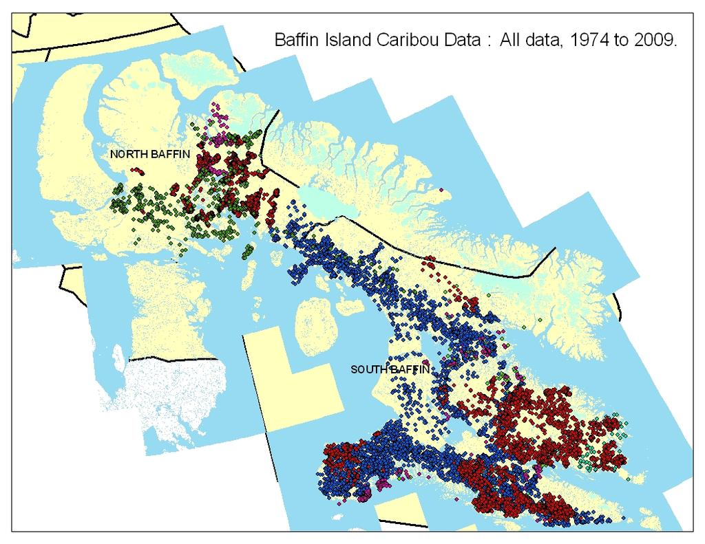 Appendix 1 2013 2012 Figure 1A: Caribou location data and Inuit knowledge will help