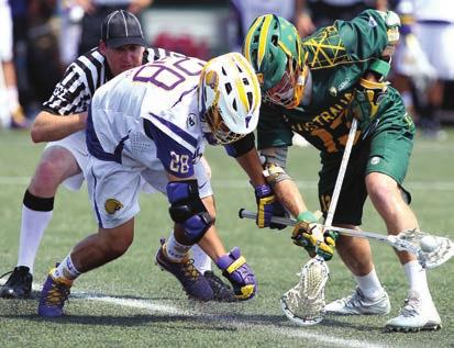 The strategy of indoor lacrosse is similar to that of basketball, with all five runners involved in the offense and the defense.