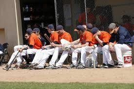11. Players are not allowed to stand outside their dugout/bench area and make