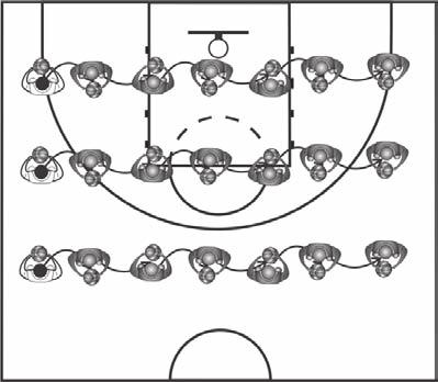 Iside Players Drills Frot ad Rear Tur, Drop-Step Drill The frot ad rear tur, drop-step drill is particularly useful for helpig the iside players master basic footwork ecessary to play ear the basket.