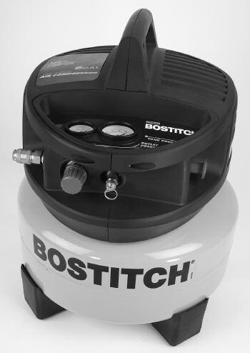 FEATURES OF THE BOSTITCH CAP2000P-OF A. Pressure Switch: - The pressure switch is the activation mechanism that is used to start and stop the compressor.