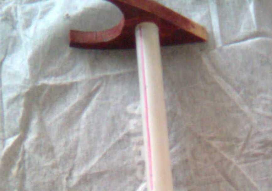 176 177 178 179 180 181 Figure 8: Picture of strut modification The original strut was modified by forming an additional component (Figure 8) which