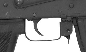 Illustration # 4 Illustration # 5 Operating handle Magazine release lever Press the magazine release lever forward to remove the magazine from the rifle.