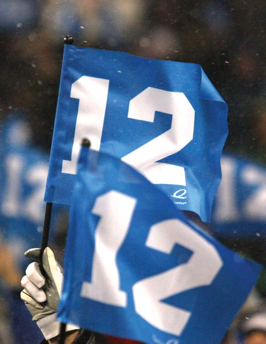 Use of 12th MAN 12th MAN The term 12th MAN is a trademark of Texas A&M University and its use is pursuant to a license agreement held by the Seahawks with the university.