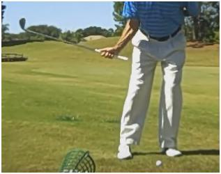 SHORT GAME RIGHT ARM SWING Think of using your chest