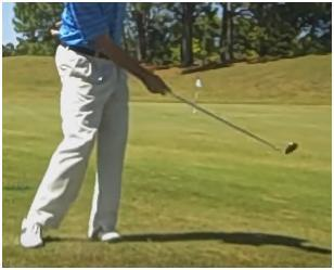 pitch shot Use your right arm only to swing the club