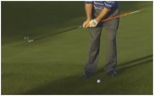 SHORT GAME CHIPPING FEEDBACK Attach an alignment stick to the end of your club Practice chipping and observe feedback If you are using too much writs or
