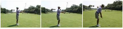 PHASES OF THE SWING POSTURE DRILL Make sure your stance is shoulder width apart (the shorter the club, the narrower the stance) Point toes slightly outwards approximately 30 degrees to help transfer