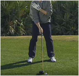 SWING FAULTS RIGHT SHOULDER BACK FIX A SLICE This drill helps you get the feeling of the club dropping to the inside on your downswing.