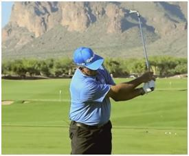 The second L is made by making a 90 degree angle in your follow through.