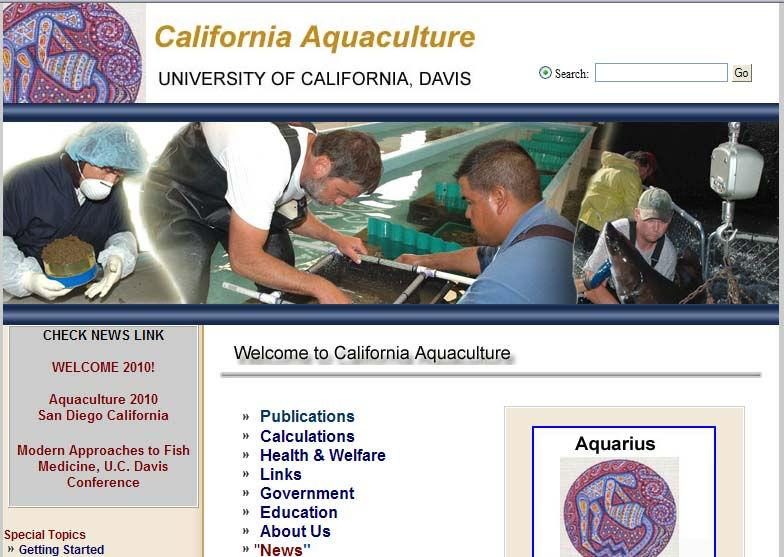 CALIFORNIA AQUACULTURE WEB SITE (http://aqua.