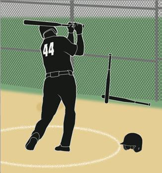 BATTER S BOX RULE EXCEPTIONS LOOSE EQUIPMENT The batter swings at the pitch. The batter is forced out of the box by the pitch. The batter attempts a drag bunt.