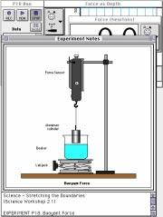P18-2: Physics Lab Manual PASCO scientific PROCEDURE For this activity, the force sensor measures the buoyant force on an object as it is lowered into water.