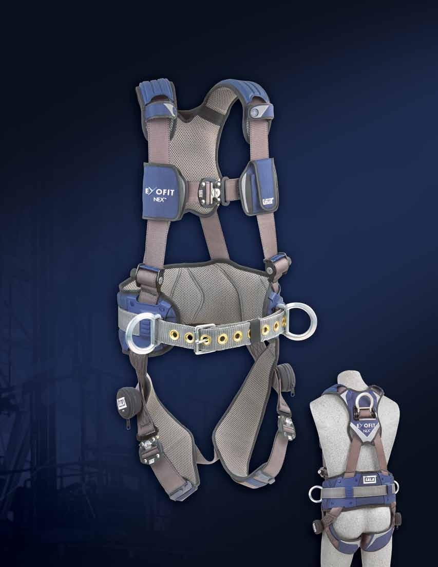 F U L L B O D Y H A R N E S S E S The Ultimate Full Body Comfort Harnesses PROTECTIVE SHOULDER CAPS Provide protection and comfort when carrying heavy materials.