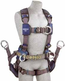 Protective hip padding loops prevent equipment pouches from sagging and reduce abrasion in