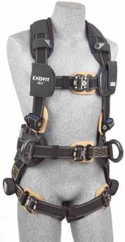 these harnesses have excellent tool-carrying capabilities, allow work positioning and provide added back support.