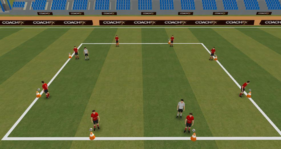 Players can now dribble the ball around inside the area.